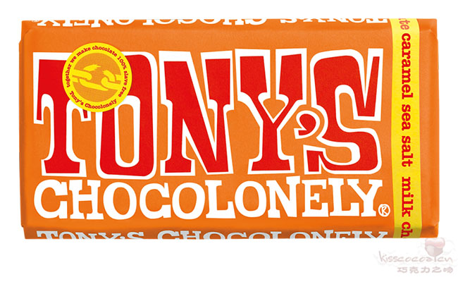 TONY'S CHOCOLONELY 托尼的寂寞巧克力 32%可可含量 焦糖海盐牛奶巧克力 180克